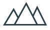 Mountain  icon, vector illustration. Flat design style