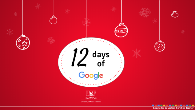 12 Days of Google in holiday ornaments